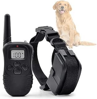 Ociodual Collar de Adiestramiento para Perros Descarga, Vibracion y Pitido, Antiladridos