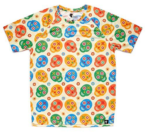 HOOPOE Camiseta de Calaveras Hombre,...