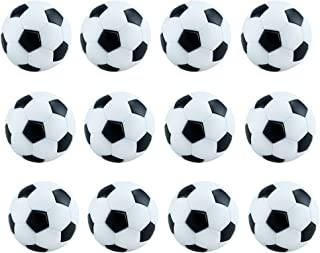 12pcs Acmer Mini Table Soccer Foosballs (white and black)