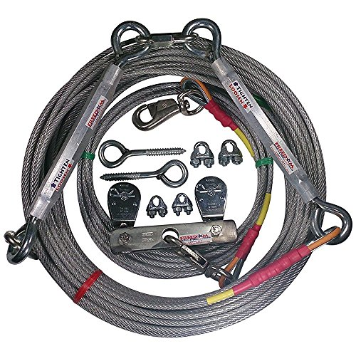 Freedom Aerial Dog Runs Super Heavy Duty (Lead Line Length 20 FT, Aerial Cable 150 FT)