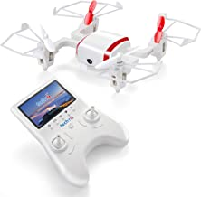 Tech RC Mini Drone with 5.8G LCD Screen Real Time Transmitter, 720P HD Camera Quadcopter FPV Live Video & 4G SD Card with Headless Mode, Altitude Hold & Rechargeable Battery