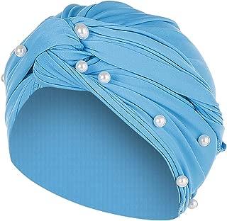 Hat Women Summer Sun Women Pearl Beading India Hat Scarf Cancer Muslim Ruffle Chemo Beanie Bandana Turban Wrap Cap
