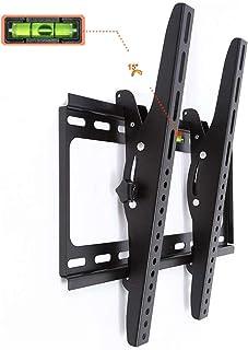 テレビ壁掛け金具 26-55インチ対応 液晶テレビ用 ティルト 上下15度調節式 耐荷重50kg LED VESA400x400mm (ブラック)