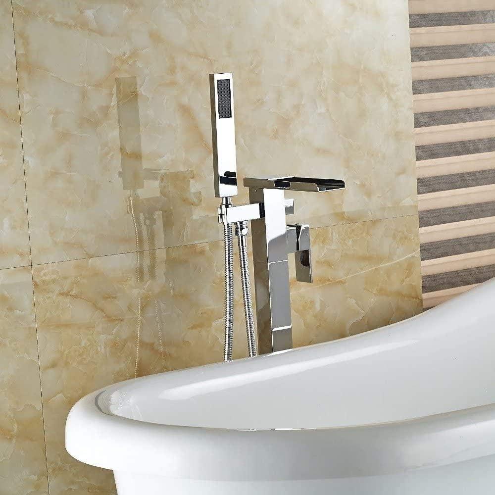 Faucet Floor Standing Tub Single Bat Polish Chorme Virginia Beach Mall Handle Super special price