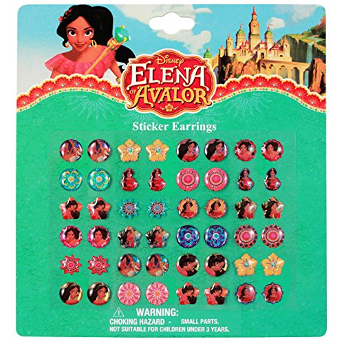 Disney Elena Avalor 24 Pair Sticker Earrings