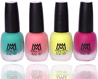 Makeup Mania Premium Nail Polish Set, Velvet Matte Nail Paint Combo of 4 Pcs, Perfect Gift for Girls and Women (MM-65), Multicolor, 300 g