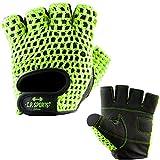 C.P.  Sports Fitness Trainings - Guanti classici da allenamento, di colore giallo fluorescente, XL/10 = 22-24cm