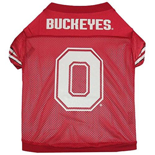 Sporty K9 Collegiate Ohio State Buckeyes Football Dog Jersey, XX-Small