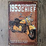 Classic Indian Motorcycles 1953 Roadmaster Chief Tin Sign Poster Logo Plaque 20 X 30 Cm