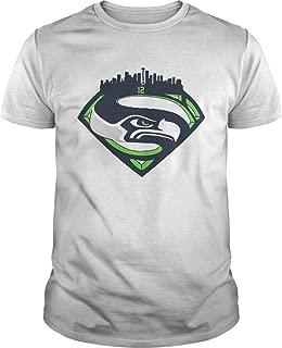 Seattle Seahawks Superman 12 Shirt T-shirt, Unisex Hoodie, Sweatshirt For Mens Womens Ladies Kids