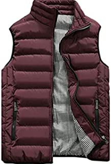 Men's Down Vest Winter Casual Work Sports Travel Outdoor Padded Puffer Pockets