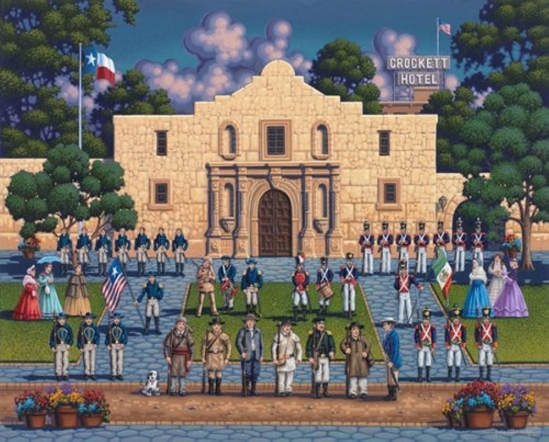 Jigsaw Puzzle - The Alamo 500 Pc By Dowdle Folk Art by Dowdle Folk Art