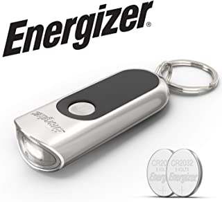 Energizer Keychain Light with Touch Technology?, Bright 20 Lumens, Keychain LED Flashlight, Batteries Included
