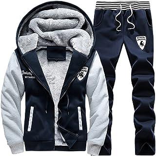 Losait Men Big /& Tall Velour Velvet Tracksuit Top Jogger Pants 2PC