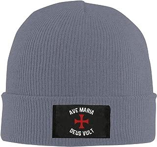 Unisex Beanie Cap Knitted Hat Skull Cap Hat Ave Maria Deus Vult