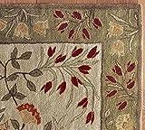 Persa Floral alfombra de lana hecho a mano tradicional persa Oriental alfombra y alfombra, 100% lana, beige, 9x12 (274x366)cm