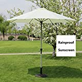CHHD Sonnenschirme Umbrella Markt Patio OutdoorGarden Rasentisch Sun Canopy Aluminium Pole Umbrella UV Parasolsive 270 cm * 250 cm (Farbe: Kaffeefarbe) (Farbe: Khaki)