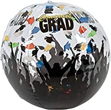Kicko Inflatable Beach Balls - Set of 6 - Cool Graduation Celebration Inflatable Beach Ball - Perfect for Graduation Party in Kindergarten, Elementary, High School, College