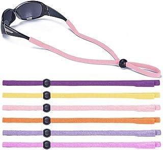 Shinkoda Kids Glasses Strap Sport Baby Sunglasses Holder Strap for Boys Girls, Set of 6 Color