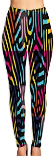 Year Dark Dots Funny Rainbow Color Yoga Pants Washable Legging Tights Quick Dry Sportswear for Women Girl Workout