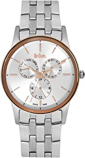 Lee Cooper Men's Multifunction Silver Case Silver Super Metal Strap Silver Dial -LC06498.530