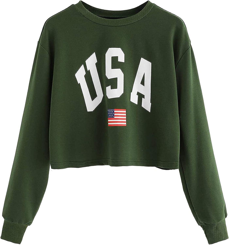 UOCUFY Hoodies for Women, Womens Hoodie Casual Long Sleeve Letter Print Pullover Sweatshirt Loose Tie Dye Crop Tops