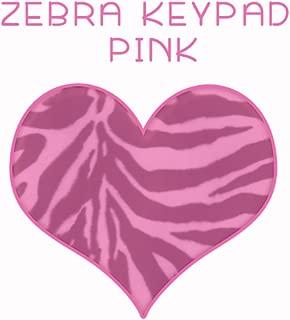 Zebra Keypad Pink