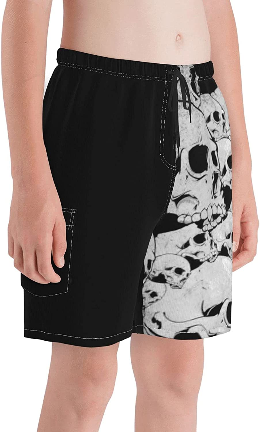 Boys Beach Board Shorts Quick Dry Youth Swim Trunks with Pockets Mesh Lining