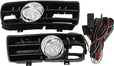WOVELOT Reja Anti-Niebla luz lampara Faro LED Delantera para Golf MK4 GTI TDI 99-04 6000K