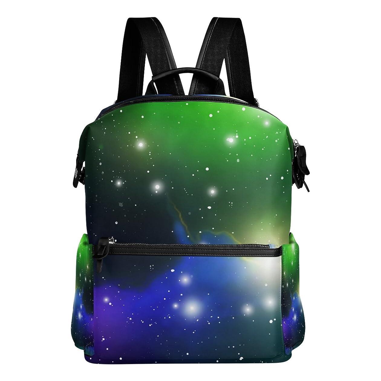 インシュレータホスト透けて見えるAyuStyle リュック リュックサック 星柄 天体 夜空 オーロラ 個性的なデザイン おしゃれ かっこいい メンズ レディース 男女兼用 大容量 高校生 大学生 通学 アクセント バックパック