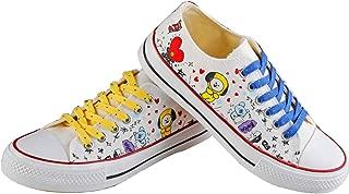 DHSPKN Kpop BTS Cartoon Canvas Shoes Bangtan Boys Official Style Shoes Jungkook Jimin Hiphop Sneakers