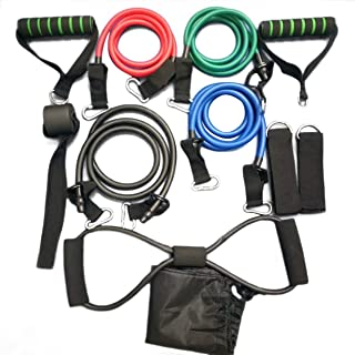 11 Pcs/Set Portable Multifunctional Rally Pull Rope Muscle Training Resistance Bands Chest Expander Puller Exercise Tubes