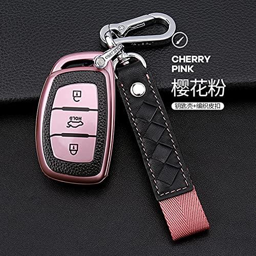 BUQDA Copertura della cassa chiave dell'automobile, per Hyundai IX25 IX35 I20 I30 I40 hb20 Santa Fe Creta Solaris 2017 3 pulsanti Shell Accessori Car-Styling