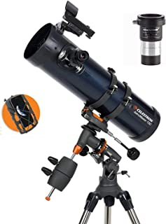 Celestron AstroMaster 130EQ Newtonian 32044-DS with Phone Adapter & T-Adapter/Barlow