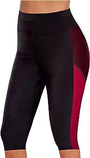 Urchics Womens Plus Size Rash Guard Capris Long Swim Shorts Tankini Bottom