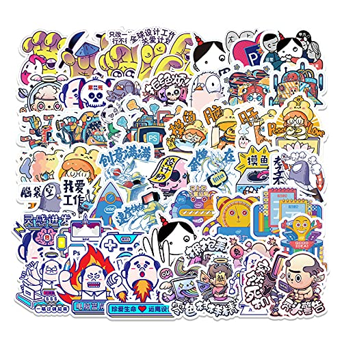 YCYY 53 Personality Term Graffiti Stickers Laptop Luggage Scooter Car Refrigerator Decoration Stickers