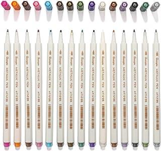 メタリック マーカーペン 15色セット 多機能 DIY アルバム/カード/年賀状/ガラス/木材/陶芸などの表面に適用