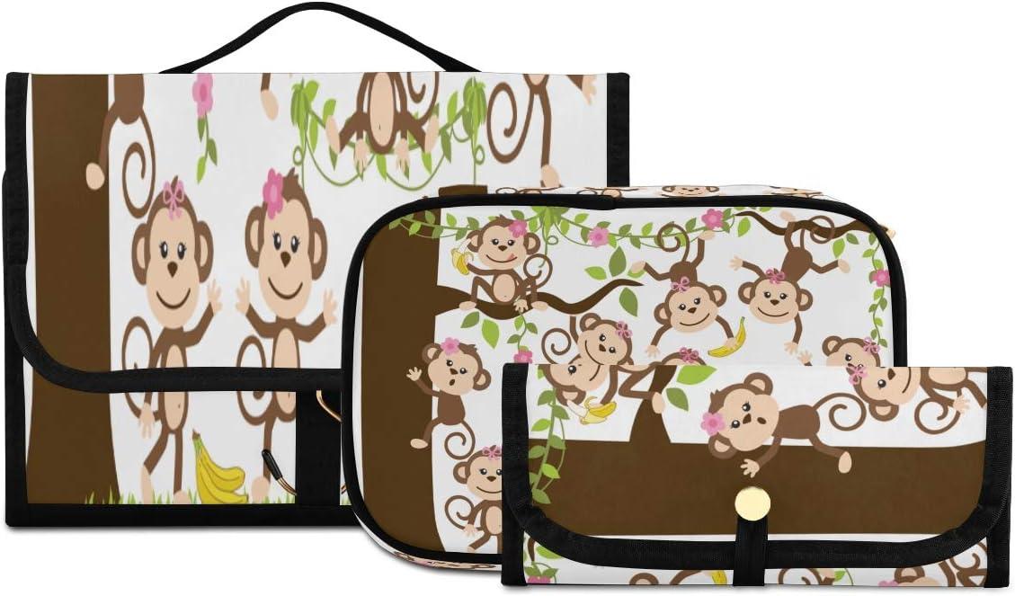 Toiletry Bag For Women Flexible Monkey Toiletrie New item Albuquerque Mall Men's Animation
