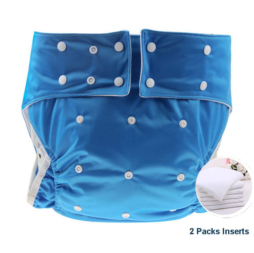 Jolie Diapers Reutilizable Pañales para Adultos Pantalones de pañales de incontinencia para Hombres Mujeres y Adolescentes Bebé Adulto Pañal Amante Libre de Fugas Pañales de Tela,Blue: Amazon.es: Deportes y aire libre