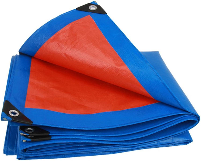 Plane Plane-Qualitäts-Plastikregen-Abdeckungs-Regen-Tuch-Schatten-Stoff-Lichtschutz-Überdachung, Stärke 0.32mm, 160g   m2, 17 Größen-Wahlen, Blau + Orange, Anmerkung  Nur 1 kann auf einmal gekauft wer B07D6G6D8V Hohe Qualität und