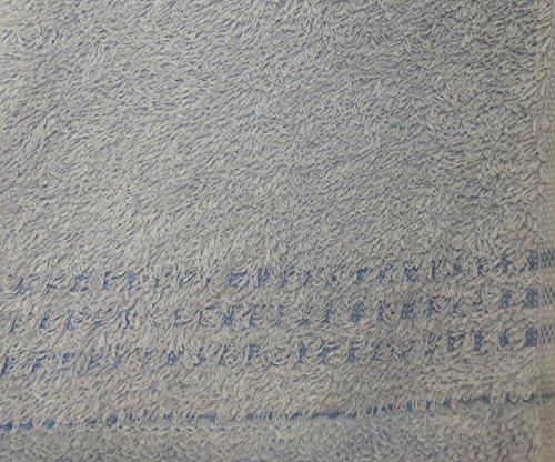 泉州タオルオーガニックコットンフェイスタオル6枚組日本製(ブルー3枚ベージュ3枚)