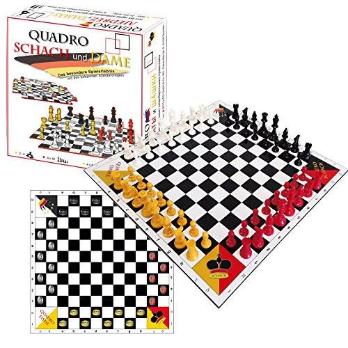 QuadroSchach + QuadroDame - Schach und Dame zu viert NEUE EDITION