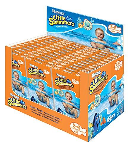 Huggies Little Swimmers Einweg einzeln verpackte Schwimmwindeln, Größe 5 - 6, 36 Stücke