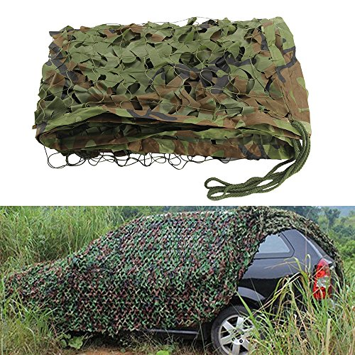 Camouflage Net Camo Netting Oxford Fabric Hunting Shooting Hide Army for Camping Hide 2M 3M 5M 7M