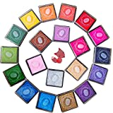 20pcs Craft Ink Pad,Stamps Pads,20 Colors Rainbow Finger Ink Pads for Kids DIY as Gifts,fo...