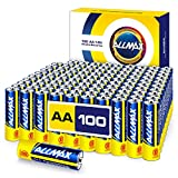Allmax AA Maximum Power Alkaline Batteries (100 Count Bulk Pack) – Ultra Long-Lasting Double A Battery, 10-Year Shelf Life, Leak-Proof, Device Compatible – Powered by EnergyCircle Technology (1.5V)