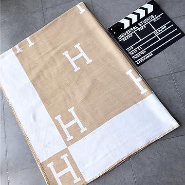 Plaid Throw Blanket for Couch Sofa Decorative Cozy Farmhouse Throw Blankets Soft BlanketLightweight Decorative Soft Blanket