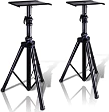 Pyle Dual Studio Monitor 2 Speaker Stand Mount Kit – Heavy Duty Tripod Pair and..