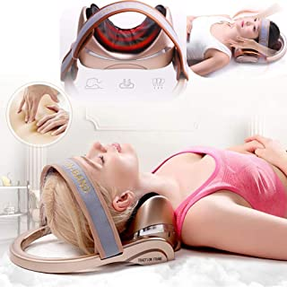 Electric Cervical Massage Instrument,Cervical Traction Kneading Care Neck Heated Infrared Shiatsu Back Neck Massager Traction