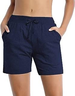 BUBBLELIME 12.7cm 女式休闲百慕大短裤带口袋抽绳宽松版型瑜伽跑步健身休闲